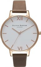 Ladies Olivia Burton Big White Dial Watch OB16BDW20