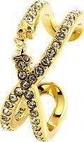 Ladies Juicy Couture Gold Plated Pave Infinity Luxe Wishes Ring WJW62527-712