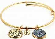 Ladies Chrysalis Gold Plated Happiness Good Fortune September Sapphire Crystal Expandable Bangle CRBT0109GP
