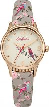 Ladies Cath Kidston British Birds Grey Strap Watch CKL013ERG