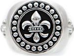 Icon Brand Jewellery Ladies Stainless Steel Rebel Heritage Lys Sovereign Ring Size Medium RH016-R-SIL-MED