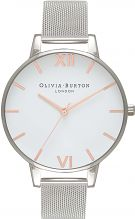 Ladies Olivia Burton Big Dial Mesh Bracelet Watch OB16BD97