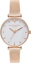Ladies Olivia Burton Queen Bee Rose Gold Mesh Watch OB16AM105