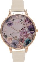 Ladies Olivia Burton Vegan Friendly Enchanted Garden Nude & Rose Gold Watch OB16VE07