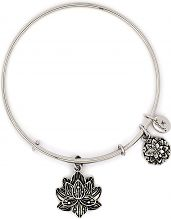 Ladies Chrysalis Silver Plated Bodhi Lotus Flower Expandable Bangle CRBT2208SP