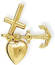 Faith Hope and Charity Charm