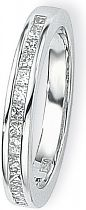 White Gold 0.50ct tw VS Princess-cut Half Eternity Diamond Ring Size L