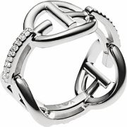 Ladies Emporio Armani Sterling Silver Size M.5 Ring EG3198040505