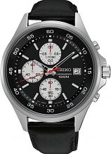 "seiko watches seiko divers watches watch shop comâ""¢ mens seiko chronograph watch sks485p1"
