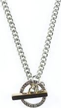 Icon Brand Base metal Link Necklace P1154-N-SIL