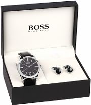 "hugo boss watches men s boss watches watch shop comâ""¢ mens hugo boss cufflink gift set watch 1570044"