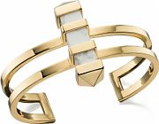 Fiorelli Jewellery Ladies PVD Gold plated Marble Bar Bangle B4764